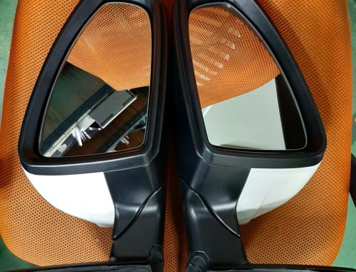 jetta power folding side mirror